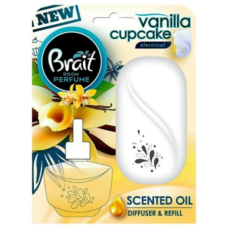 Brait Elektromos Illatosító+20ml utántöltő-Vanilla cupcake - Darab ár(5db-tól a termék darab ára :1180-Ft)