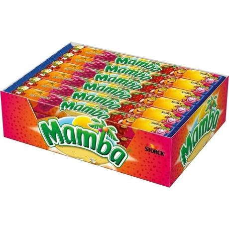 Mamba - Olvadó gyümölcsízű cukorka- 106g - vegyes - Darab Ár