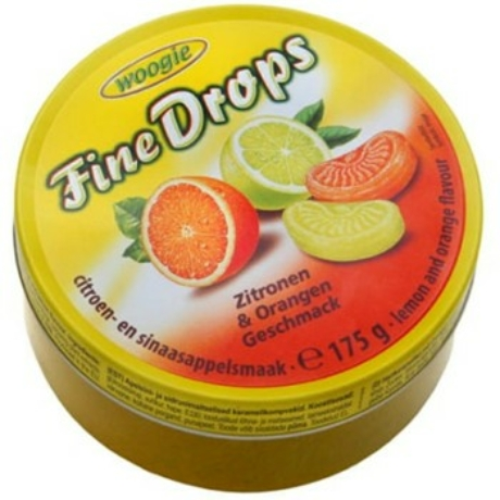 Woogie Fine Drops - Gyümölcs ízű kemény cukorka - 200g - Citrom és narancs - Darab ár