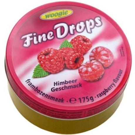 Woogie Fine Drops - Gyümölcs ízű kemény cukorka - 175g - Málna - Darab ár