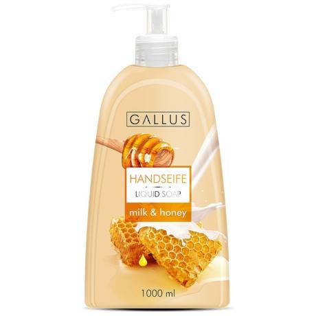 Gallus - Folyékony szappan - 1l - Tej & Méz - Darab Ár (8db-tól a termék darab ára:540-ft)