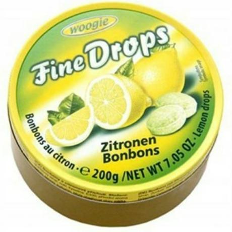 Woogie Fine Drops - Gyümölcs ízű kemény cukorka - 200g - Citrom - Darab ár